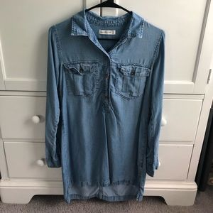 Button Up Denim Dress from Abercrombie